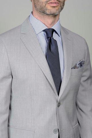 pearl grey suit structrued slim Angelico
