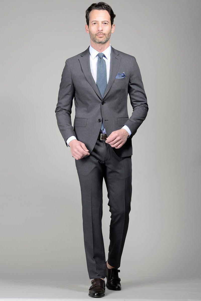 wholesale dealer 9f133 94daa Angelico Abito grigio medio slim, abiti da Uomo, in lana, grigio