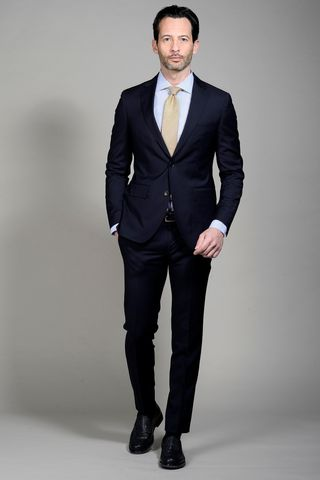 Dark blue suit 100s slim Angelico