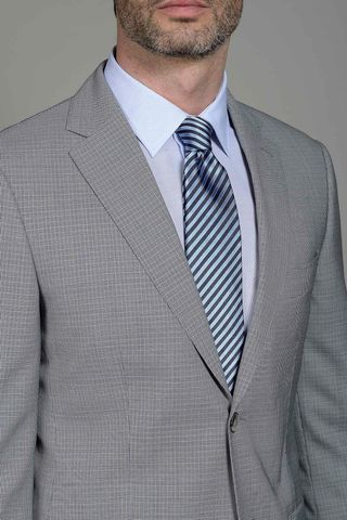 grey-azure micropattern suit 140s Angelico