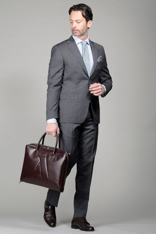 Grey suit 100s structured Angelico