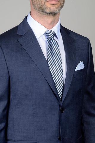 navy suit micro-pattern Angelico