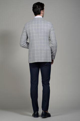 giacca galles bianco-blu lana Angelico