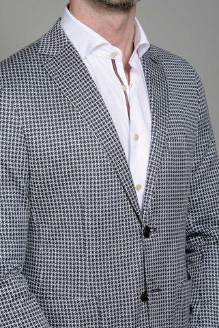 white blu jacket stars patterns slim Angelico