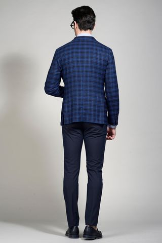 giacca blu-nera galles slim Angelico