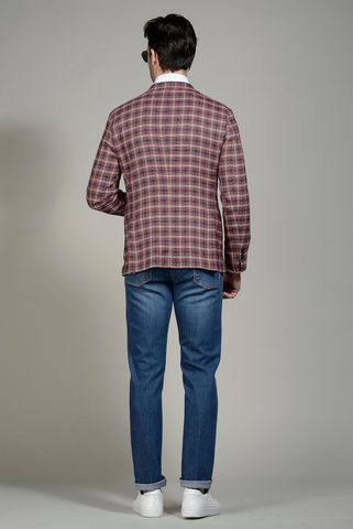 giacca galles rosso blu slim Angelico