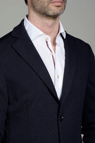 giacca blu jersey slim Angelico