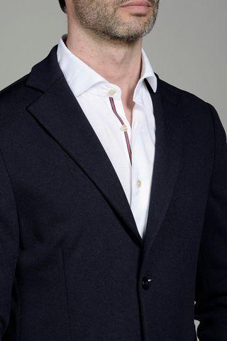 navy jacket jersey slim Angelico