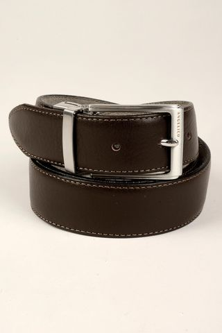 Reversible brown-beige belt Angelico