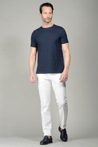 NavyT-shirt slub jersey Angelico