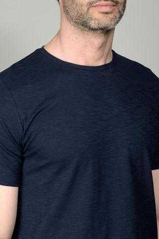 t-shirt blu scuro jersey fiammato Angelico