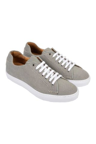 Sneaker grigia in canvas Angelico