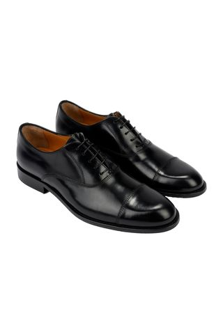 black oxford abraded shoe Angelico