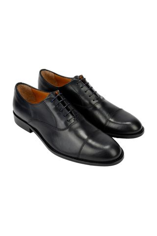 Navy oxford abraded shoe Angelico