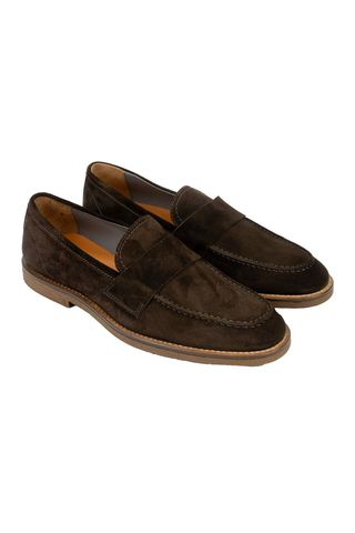 Brown suede moccasin Angelico