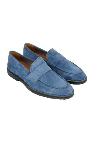 Light blue suede moccasin Angelico