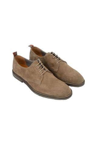 Beige suede derby shoes Angelico