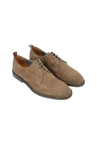 beige suede derby shoes Angelico