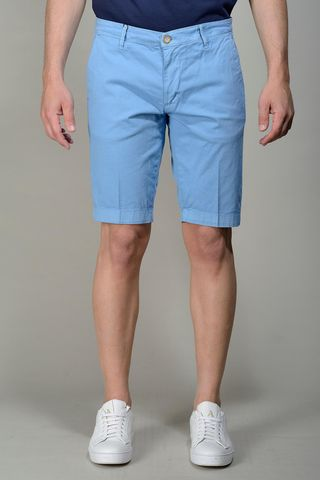 Light blue bermudas stretch cotton