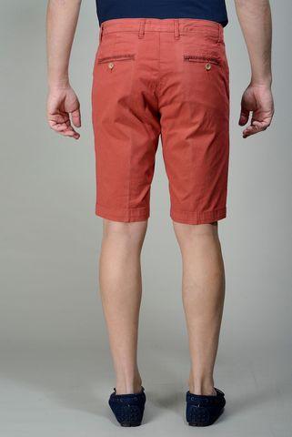 red bermudas stretch cotton Angelico