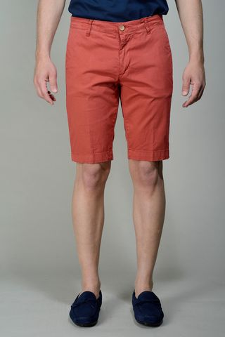red bermudas stretch cotton Angelico