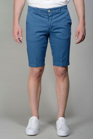 sugar blue bermudas stretch cotton Angelico