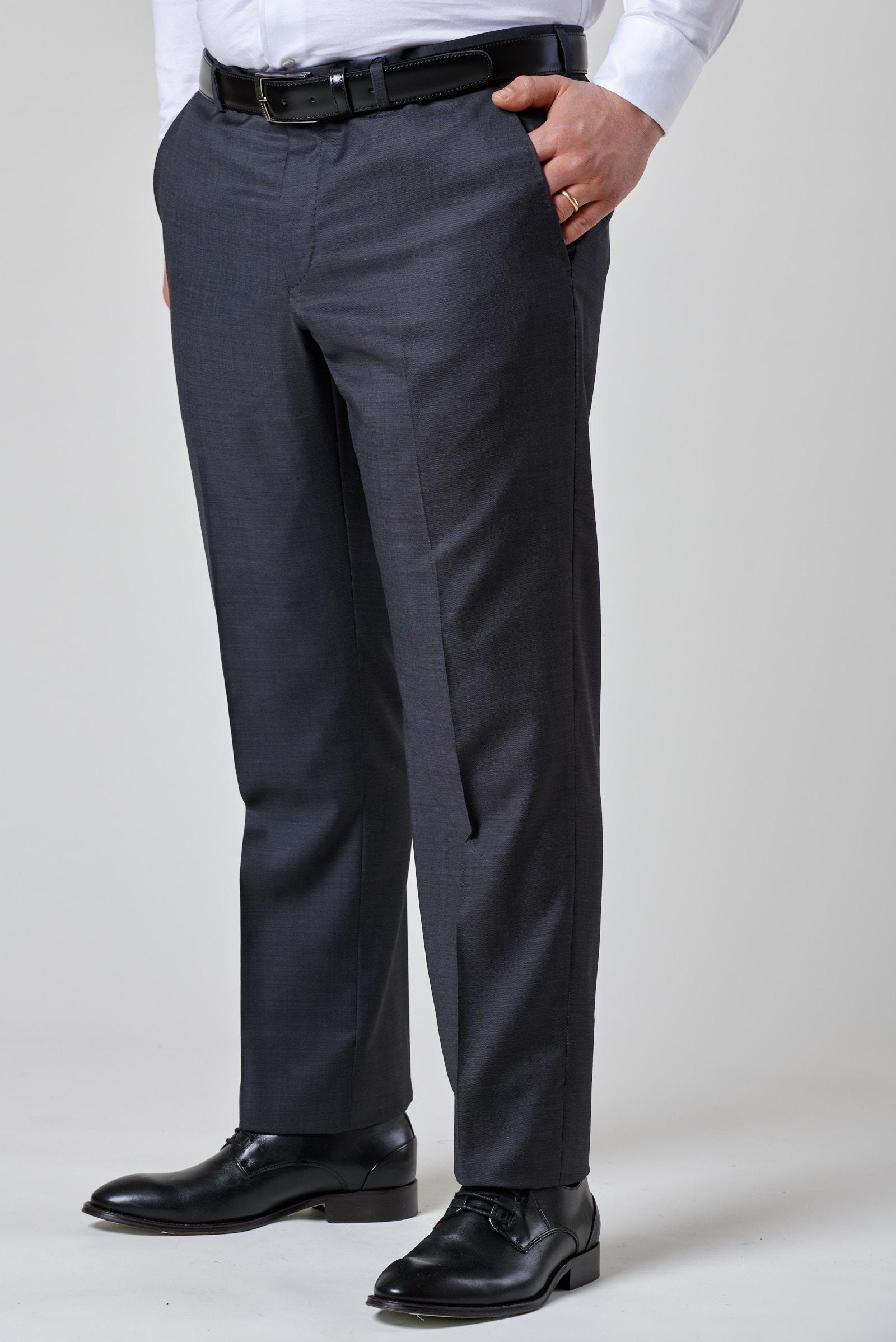 Angelico Pantalone grigio scuro armatura 140s comodo ...