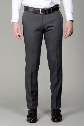 medium grey trousers wool slim Angelico