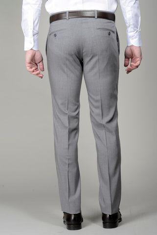 Pantalone grigio chiaro lana slim Angelico