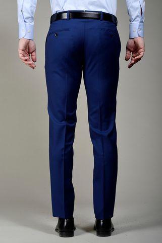 Pantalone bluette lana slim Angelico