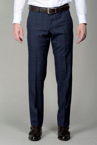 Pantalone blu lana quadro Angelico