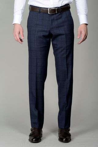 blue checkered trousers Angelico
