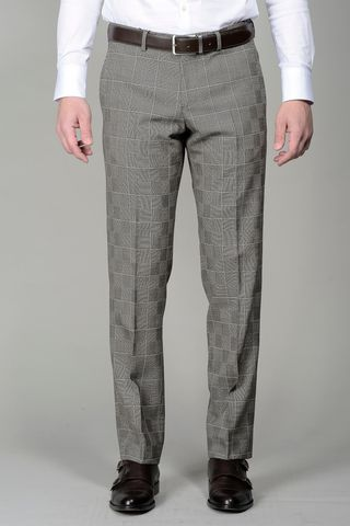 brown checkered trousers Angelico