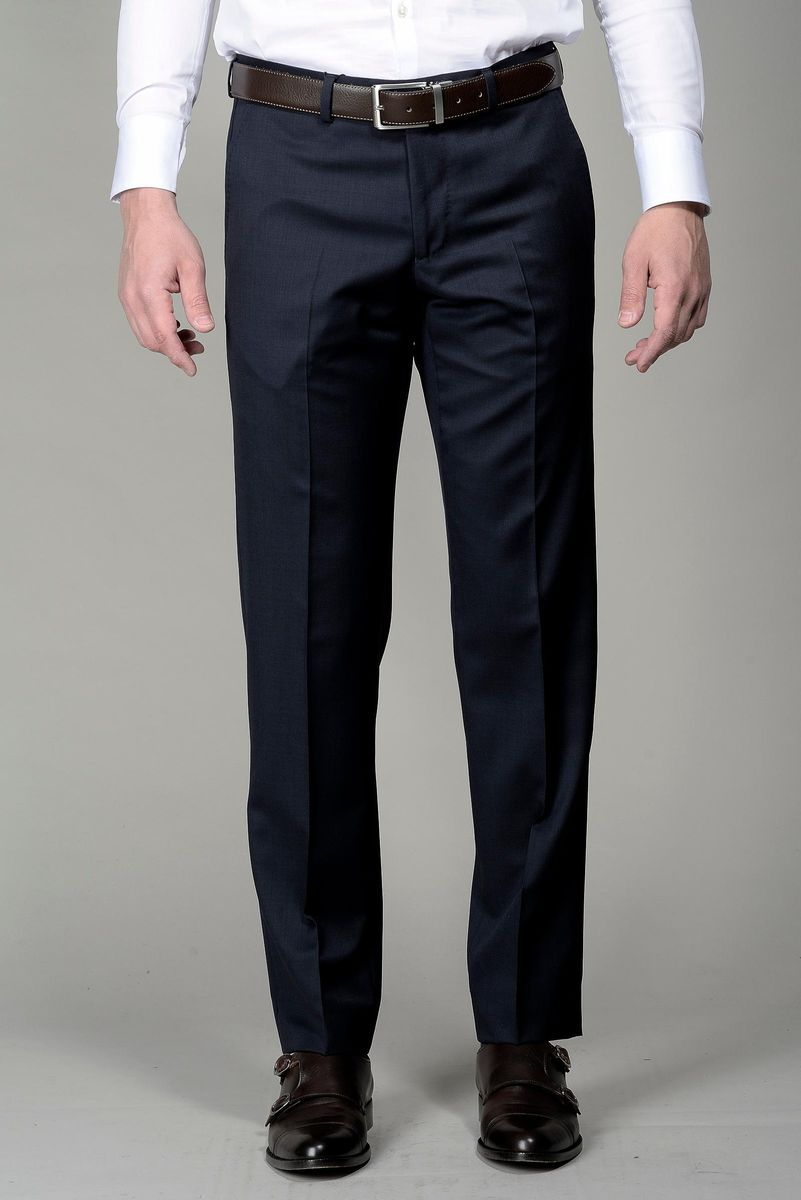 navy trousers 140s Angelico