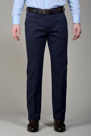 Navy trousers cannete cotton Angelico