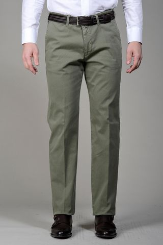 Green trousers cannete cotton Angelico