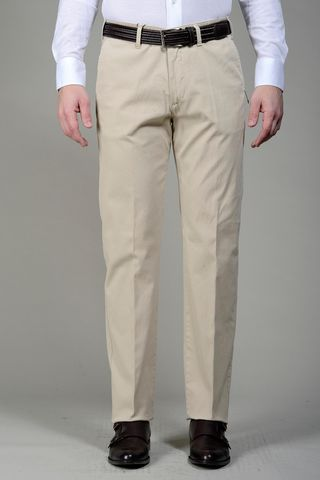 Cream trousers cannete cotton Angelico