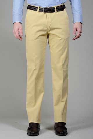 Yellow trousers cannete cotton Angelico