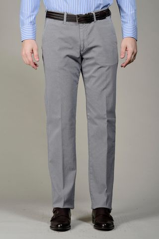 Grey trousers structured cotton Angelico