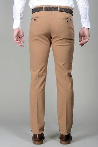 pantalone tabacco microfantasia slim Angelico