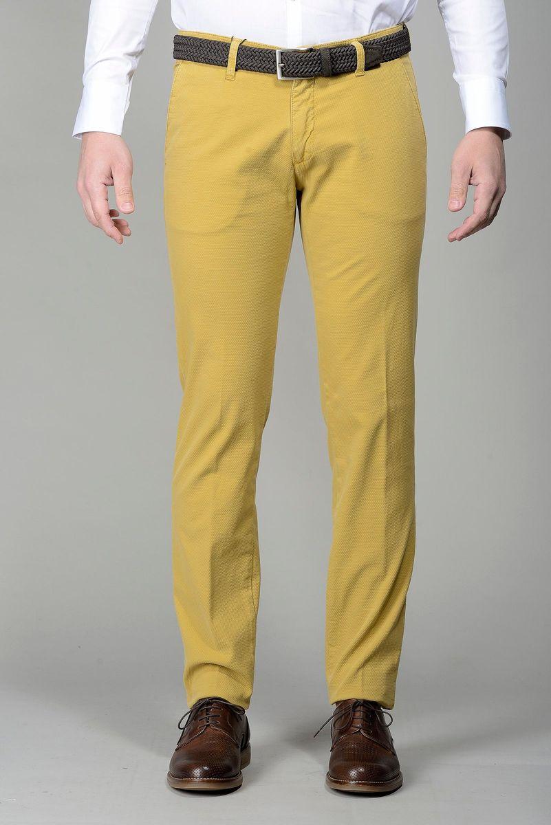 Pantalone senape microfantasia slim Angelico