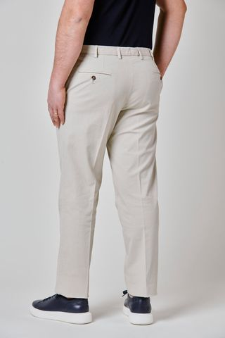 cream trousers stretch cotton comfort Angelico