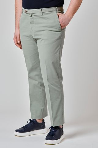 Green trousers stretch cotton comfort Angelico
