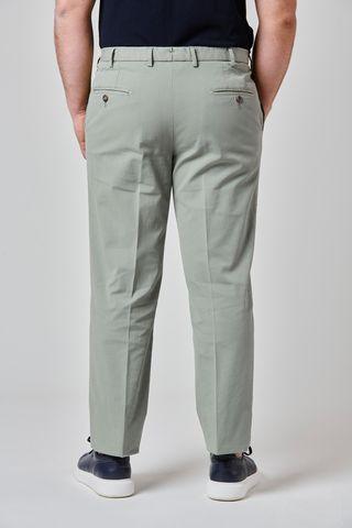 pantalone verde salvia comodo cotone Angelico