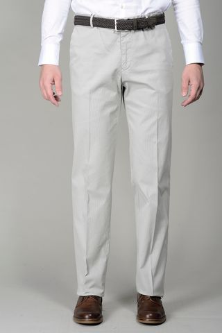 Pearl grey trousers stretch cotton comfort Angelico