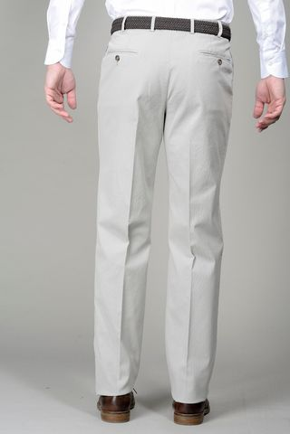 pantalone grigio perla cotone comodo Angelico