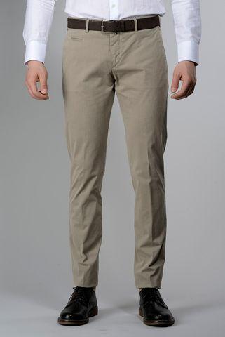 Pantalone beige cotone placcato extra slim Angelico
