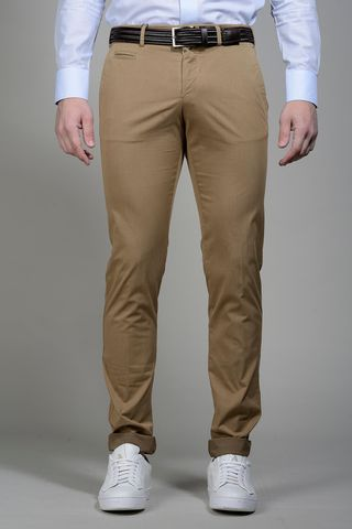 Tobaco trousers stretch cotton extra slim Angelico