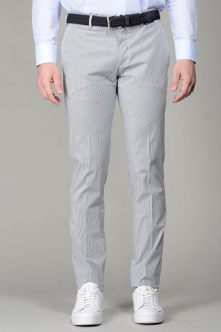 grey striped trousers slim Angelico