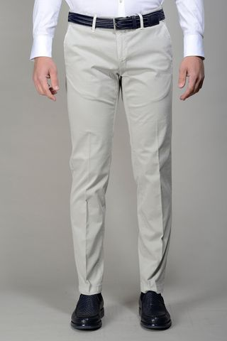 Sand trousers stretch cotton slim Angelico